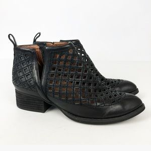 Jeffrey Campbell Black Taggart Laser Cut Booties